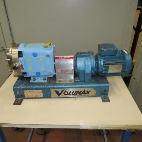 R10DE833 Stainless steel VOLUMAX roots rotary pump 006 type 0.37 kw - hp 0.5