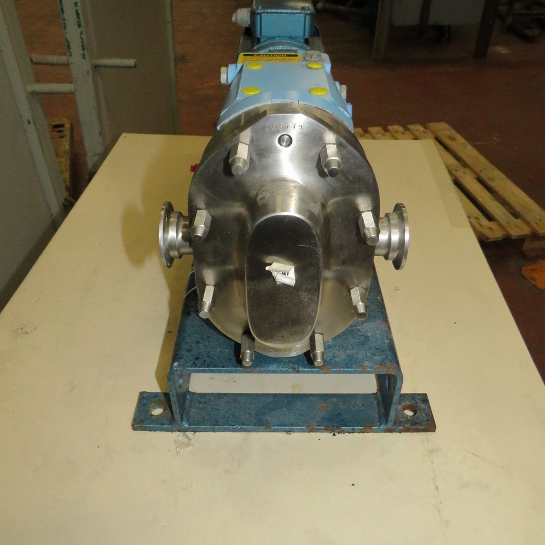 R10DE833 Stainless steel WAUKESHA roots rotary pump 006 type 0.37 kw - hp 0.5