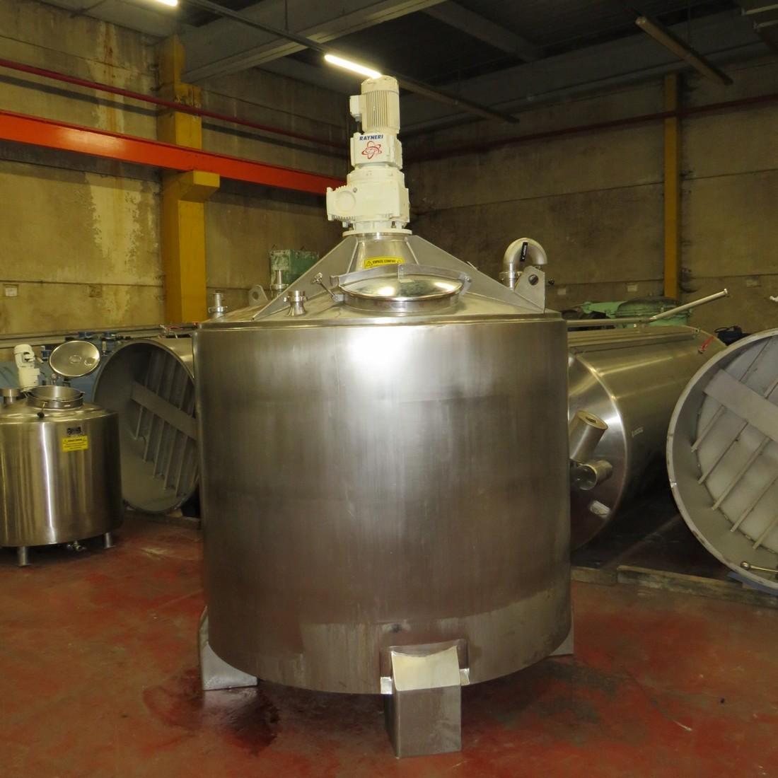 R6MA6114  Cuve mélangeuse inox 3600 litres