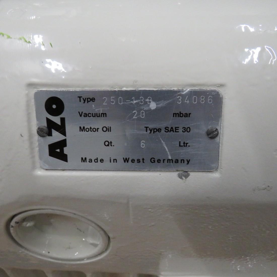 R10J801 AZO vacuum pump 250-138 N° 34086 type
