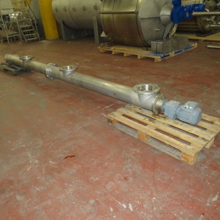 R4S1075 Stainless steel tube  screw L 4850 mm - diam 200 mm