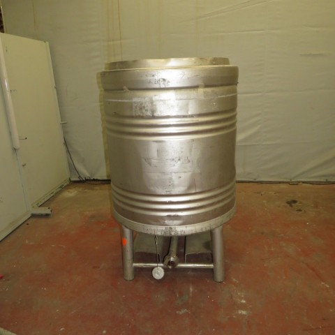 R11CB176  Container cylindrique inox EUROCONT 800 litres