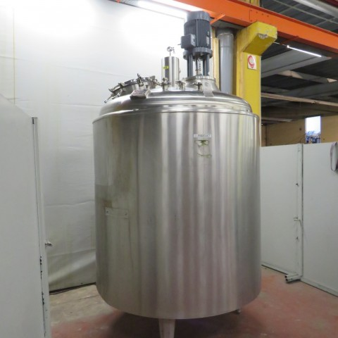 R6MA6125  Stainless steel PIERRE GUERIN mixing tank 3450 litres