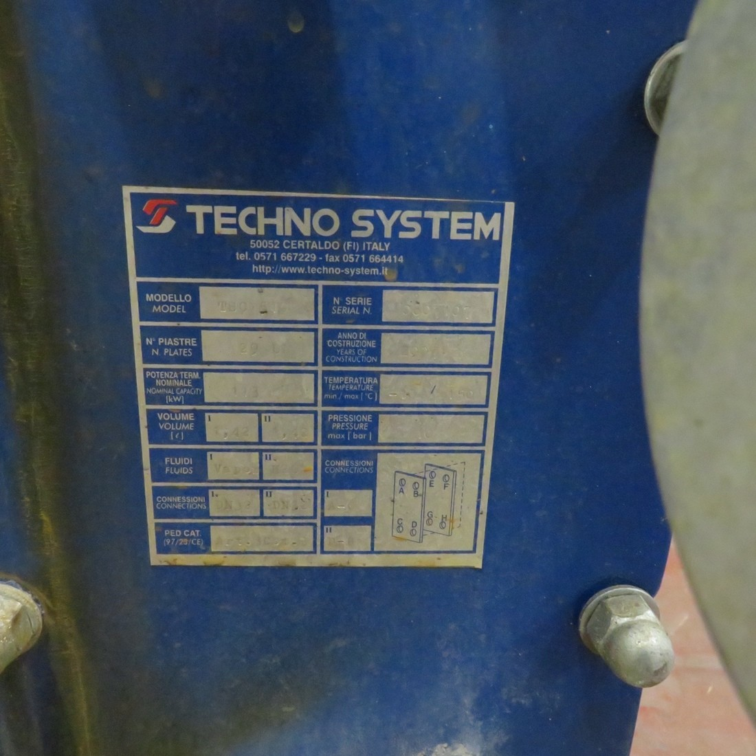R1KP742 TECHNO-SYSTEM plates exchanger TSC 510 type