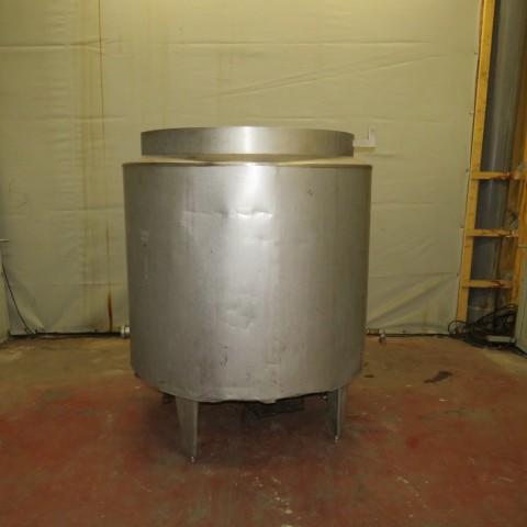 R6MA6129  Cuve mélangeuse inox 1000 litres double enveloppe