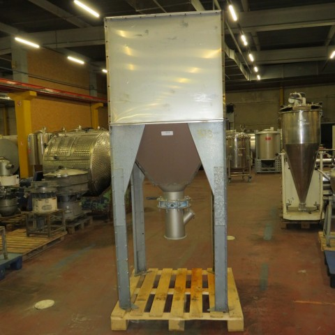 R11TB887  Stainless steel hopper 1400 litres