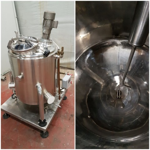 R6MA6134 Stainless steel mixing tank 150 litres double jacket