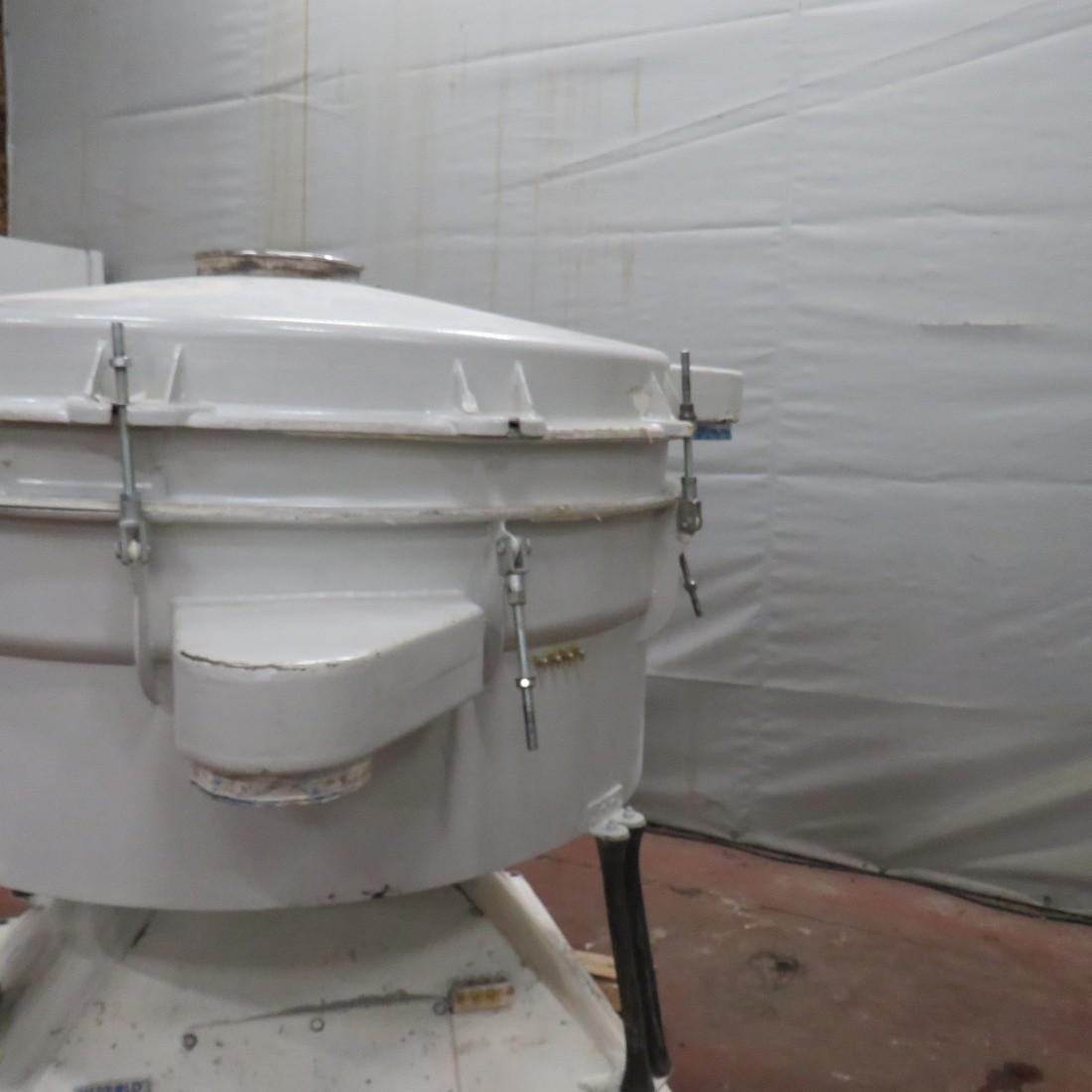 R6SA1130 Mild steel HERBOLD circular sieve TSM 1600 2 decks diam 1580 mm