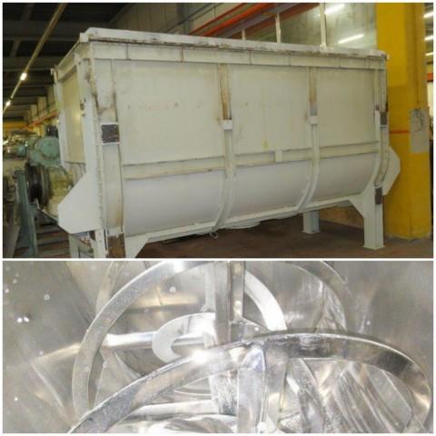 R6MK1404  Mélangeur à rubans inox capacité utile 7000 litres