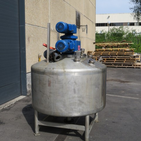 R6MA6136  Cuve mélangeuse BOCCARD inox capacité 1722 litres