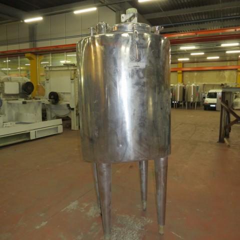 R6MA6138  Cuve mélangeuse inox BREL ET MARTEL capacité totale 800 litres