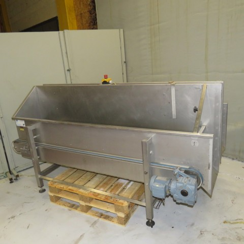 R4FB1166 Double stainless steel belt conveyor with hoppers - Width 440 mm - Lenght 220 mm