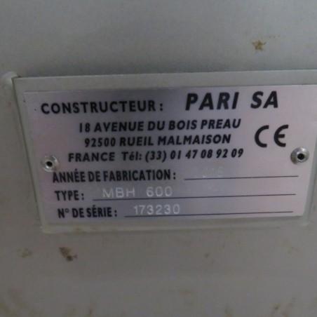 R6MK1407  Stainless steel PARI Ribbon blender MBH 600 n° 173230 type capacity 600 litres
