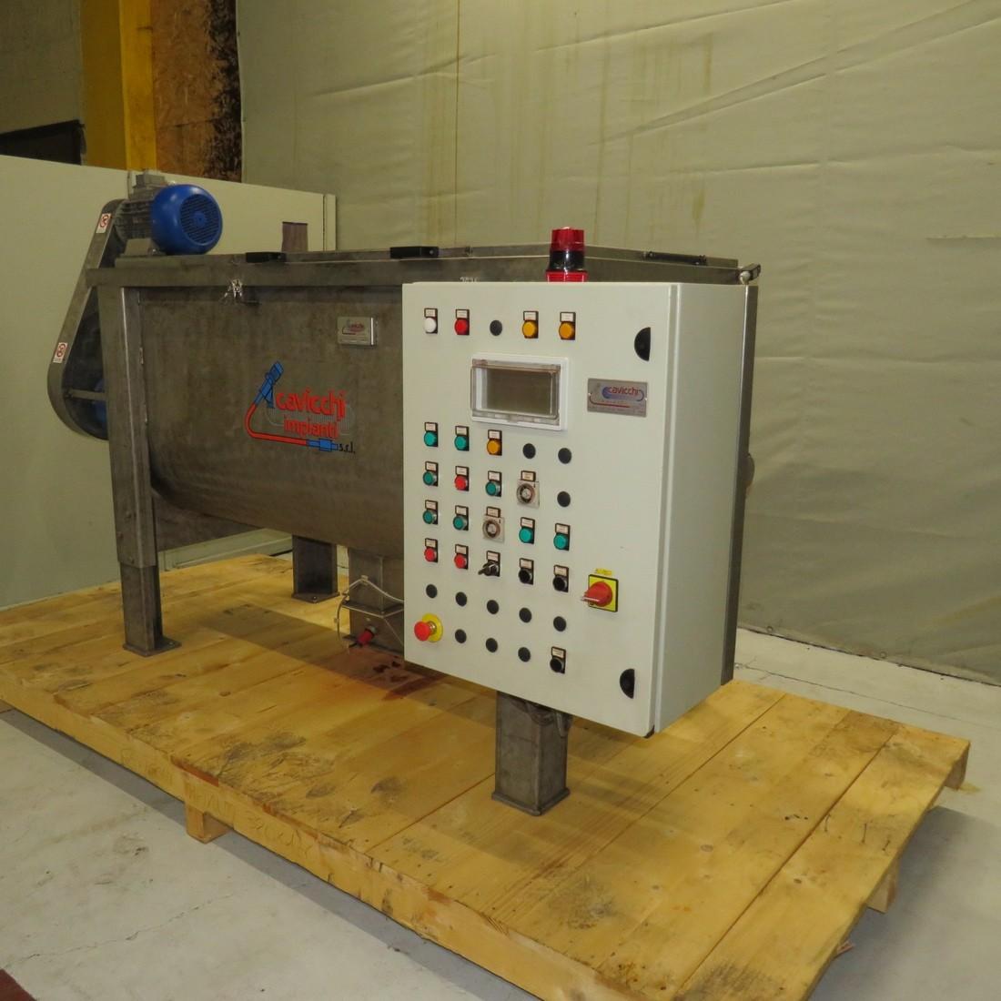 CAVICCHI Ribbon blender MOR98 type capacity 900 litres