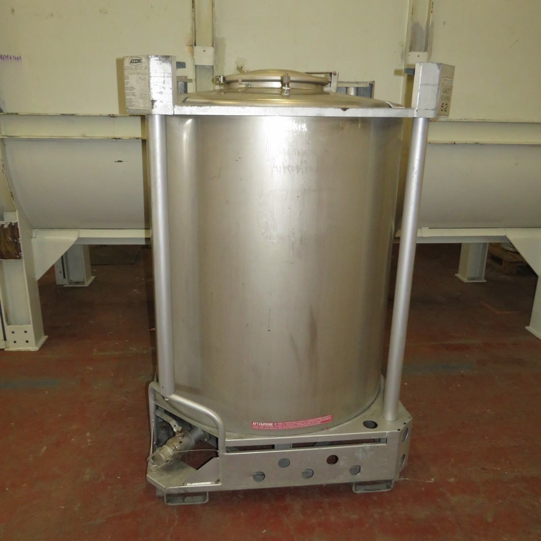 R11CB181 Stainless steel container AZZINI 1251 litres
