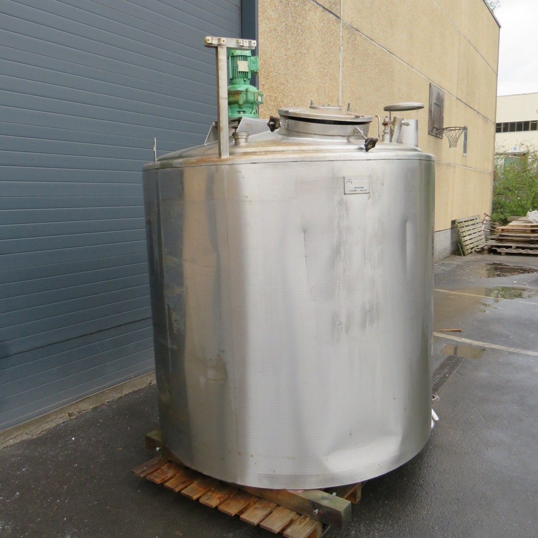 R6MA6142 Stainless steel PIERRE GUERIN mixing tank capacity 3130 litres