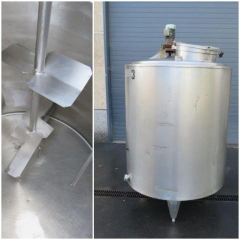 R6MA6141  Cuve mélangeuse PIERRE GUERIN inox capacité 1200 litres