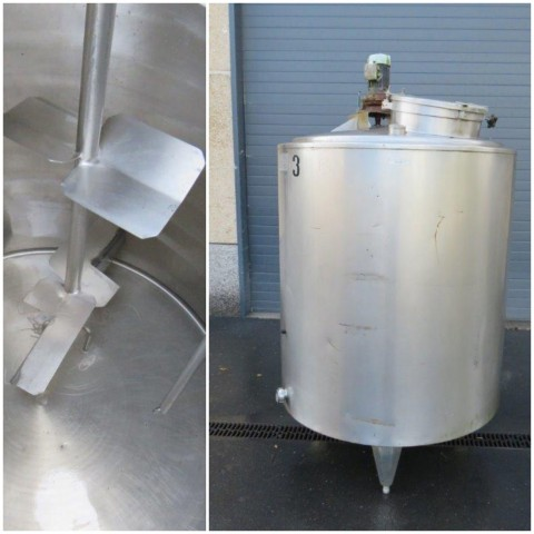 R6MA6141 Stainless steel PIERRE GUERIN mixing tank capacity 1200 litres