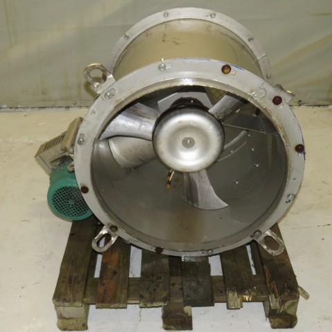 R1XA738  Ventilateur centrifuge hélicoide inox FLAKT-SOLYVENT VENTEC  type BZIVP630