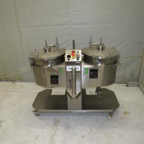 R11DB22668  Double fondoir électrique TRANSUIS 2 X 20 litres