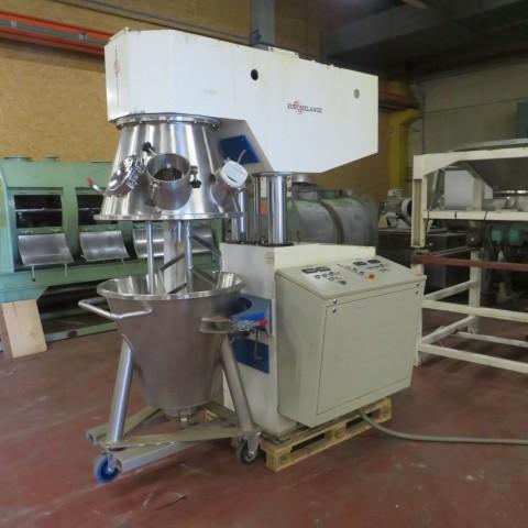 R6MP114 Mélangeur planétaire EUROMELANGE Inox - 200 l cuve Ø 810/450-hauteur 700 mm