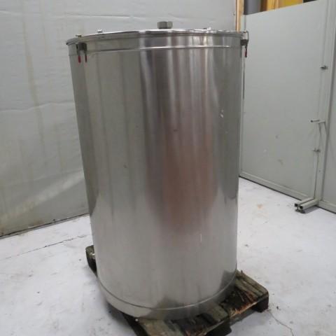R11DB22673 stainless steel BIONAZ tank 1000 liters tank Ø 950 x 1460 mm flat lid