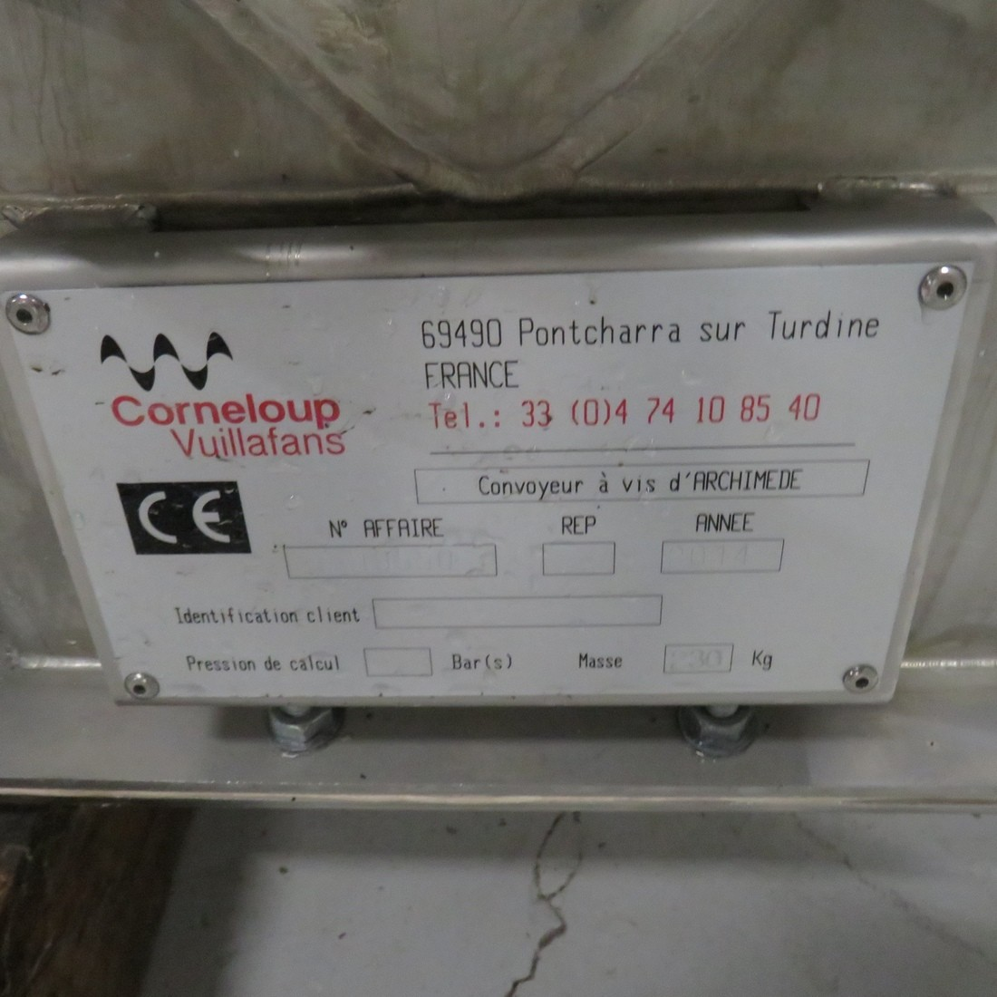 R4S1086 CORNELOUP Stainless steel screw Ø 200--length 3100 mm