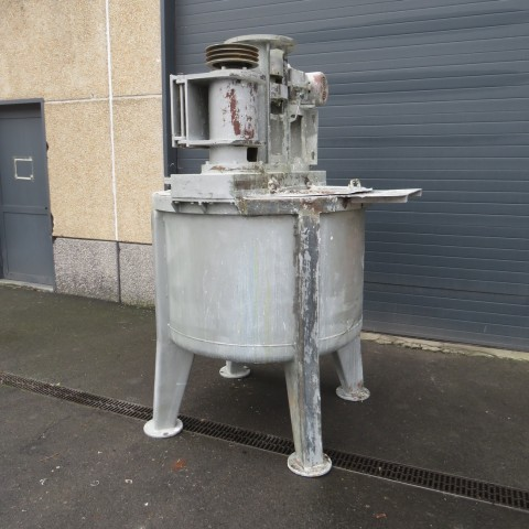 R6ME6380 Stainless steel HUBBES mixer -1000 liters-triple agitation