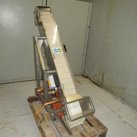 R4FB1177 Stainless steel elevator  conveyor BENNE SA-width 200 mm- height 1250 mm