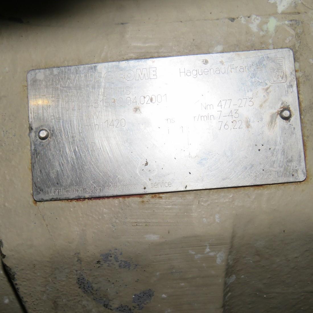 DELASCO PERISTALTIC PUMP TYPE DSC45 - 1.5 kw / HP 2