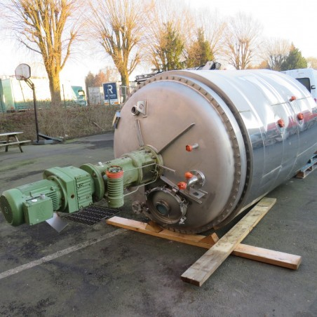 R6MA6145 stainless steel mixing tank half coiled jacket hp 10